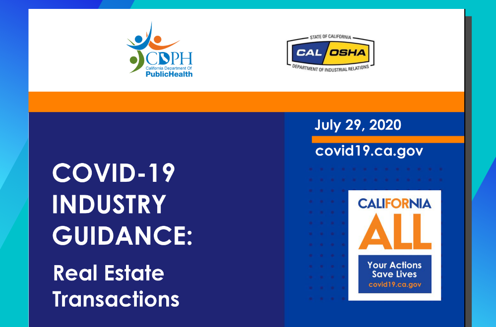 CAR Covid-19 Industry Guidance for Real Estate Transactions