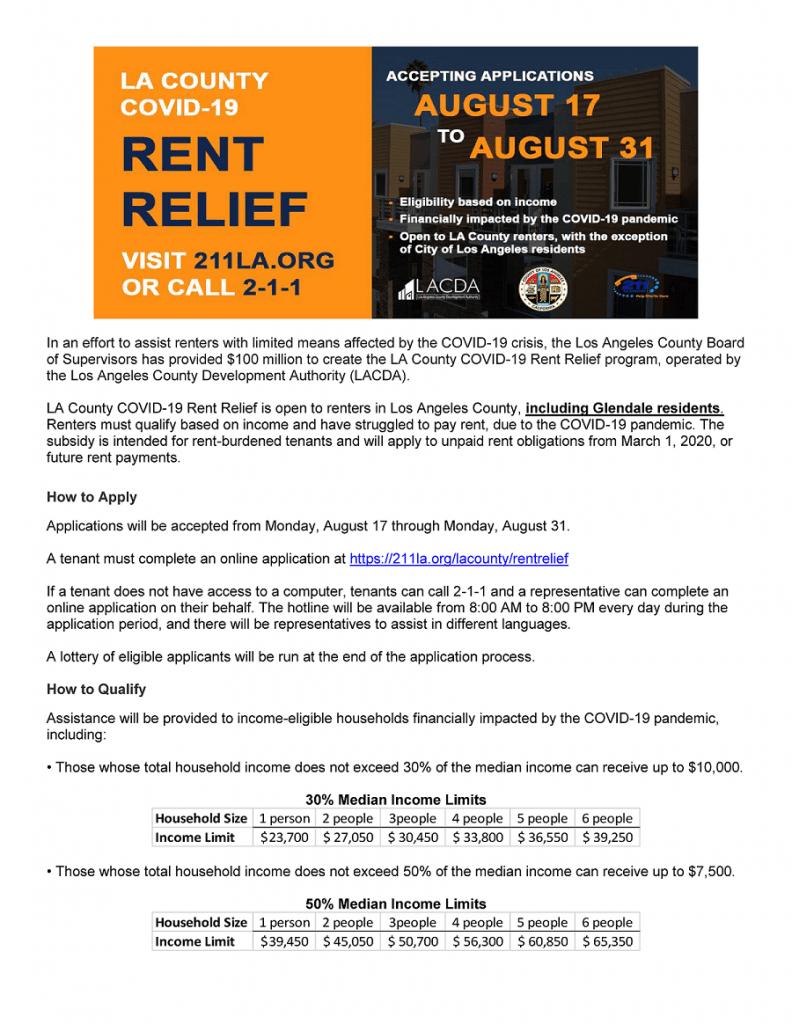 LA County COVID-19 Rent Relief Program