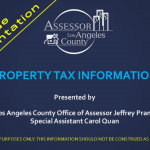 LA County Assessor Property Tax Info - Slides