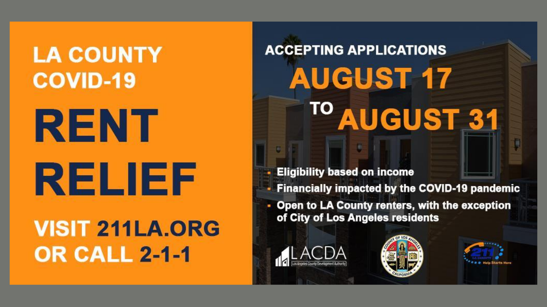 LA County COVID-19 Rent Relief