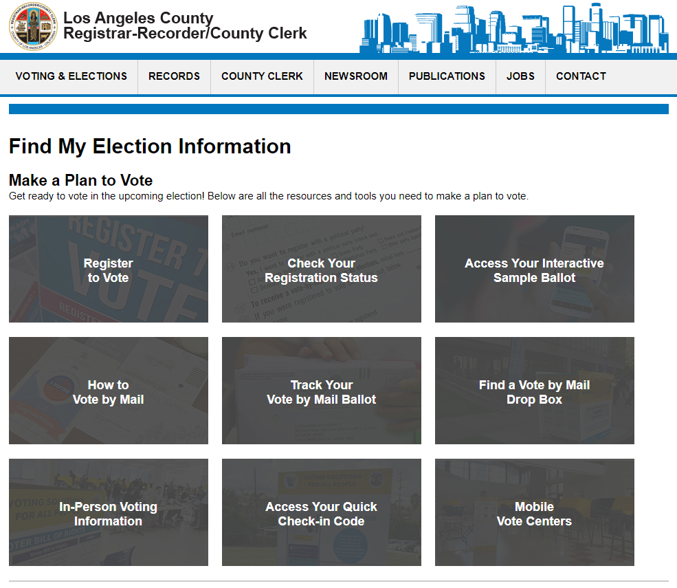Find My Election Information
