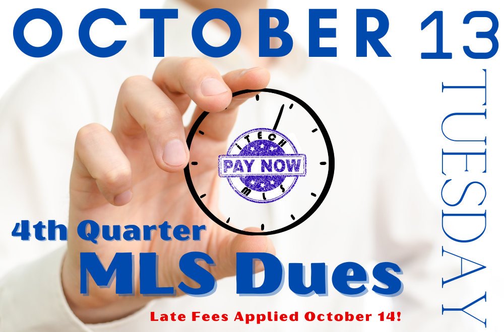 MLS Fees Due by October 13, 2020