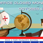 Office Closed - Columbus Day - Holiday