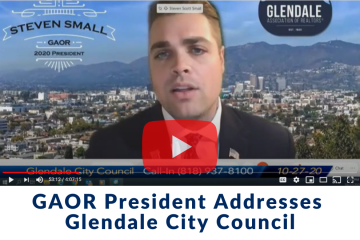 GAOR at the Glendale City Council Meeting