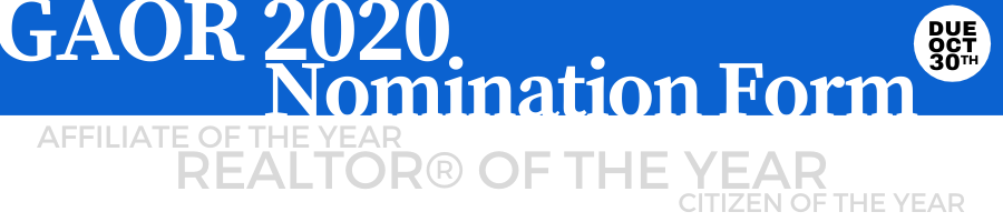 gaor 2020 Award Nomination Form