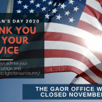 Veteran's Day - Holiday - Office Closed