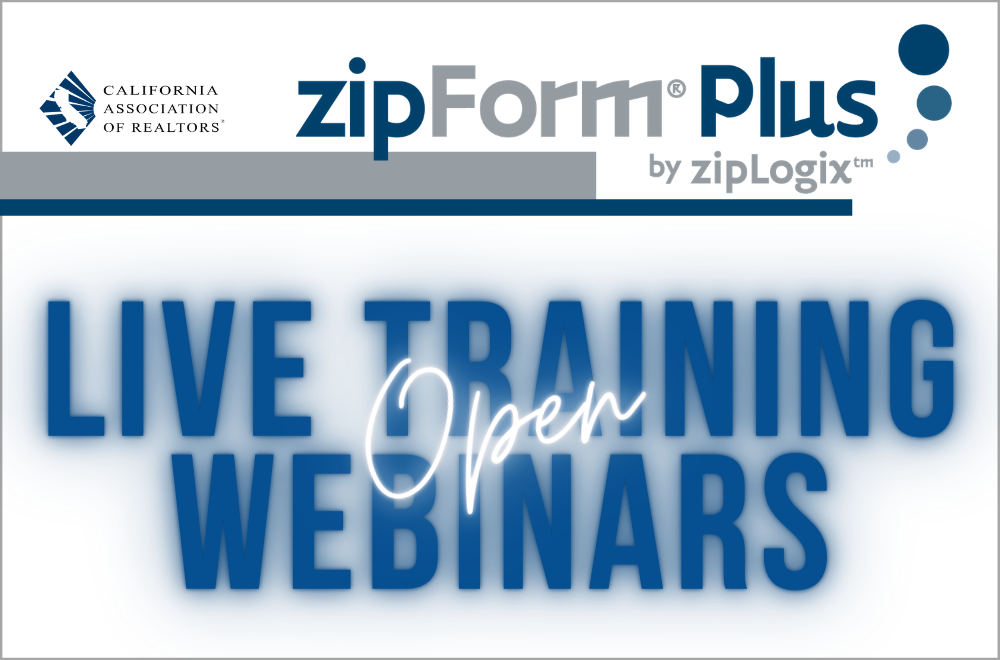 zipForm Training Webinars