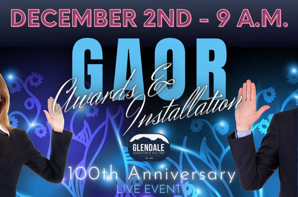 GAOR 2020 Installation & Awards at 9 a.m.