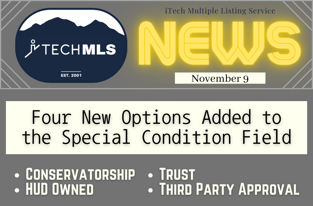 itech mls - special condition field