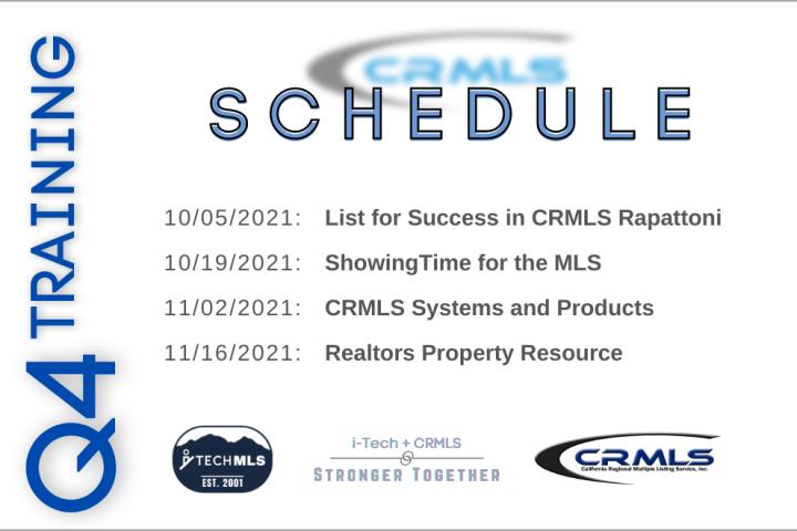 CRMLS Training Q4