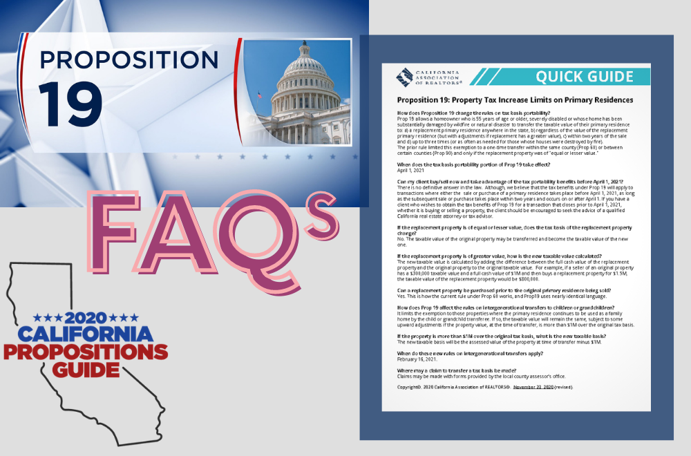 Proposition 19 FAQs