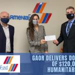 Humanitarian Relief Check Delilvered.