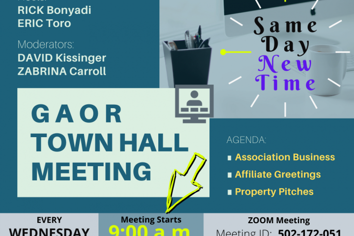 GAOR Town Hall New Time