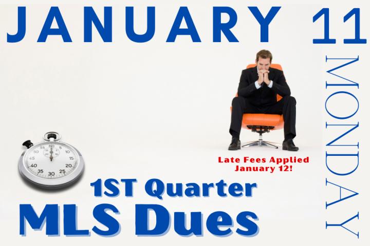 2021 Quarter 1 MLS Fees Due