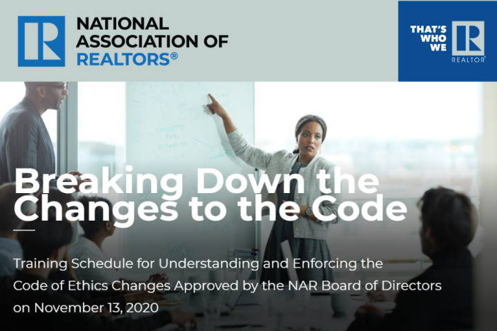 Newly Adopted NAR Code Of Ethics - 2021