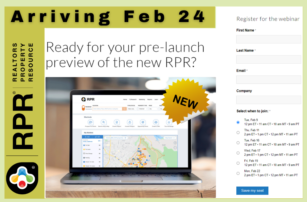 RPR - New Website