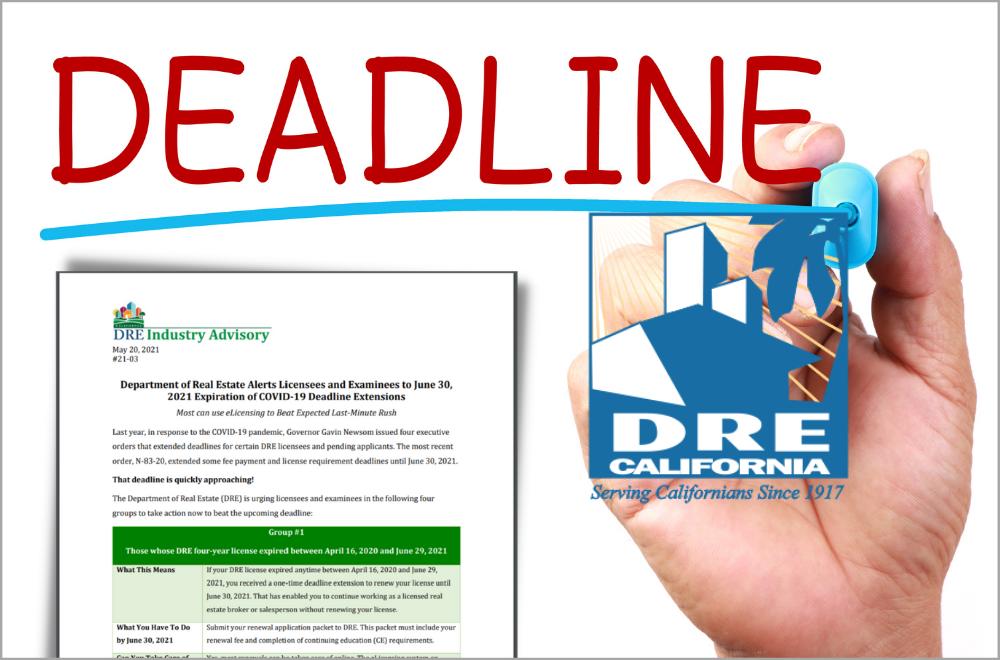 DRE Deadline
