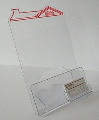 Flyer/Business Card Holder shaped as a house