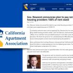 Gov Newsom - Rental Assistance