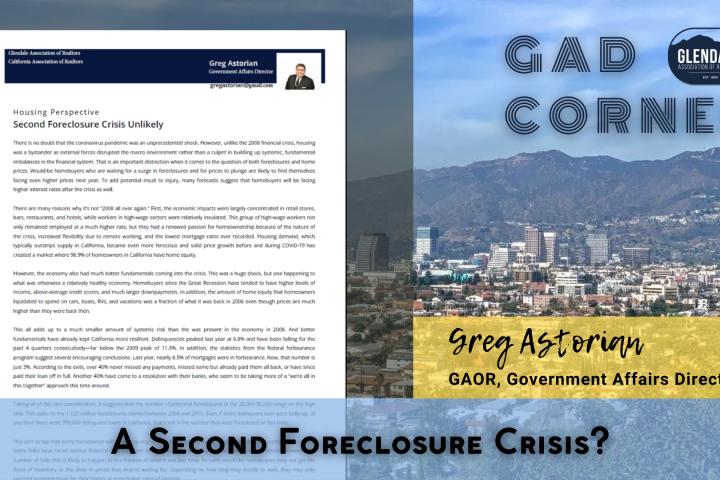 GAD Corner - 2nd Foreclosure Crisis?